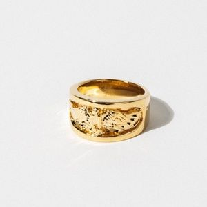New Child of Wild The soaring eagle ring gold